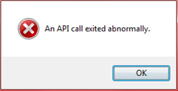 api-call-exited-abnormally